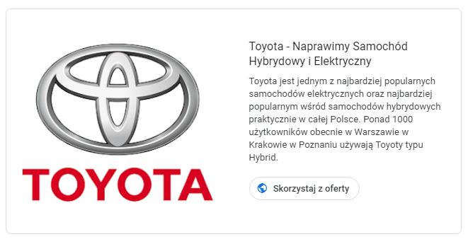 Toyota - Naprawa Aut Hybrydowych - Auto Naprawa, Auto Konserwacja i Naprawa Hybrydowa w Warszawie