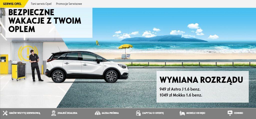 WYMIANA ROZRZĄDU Serwis Opel