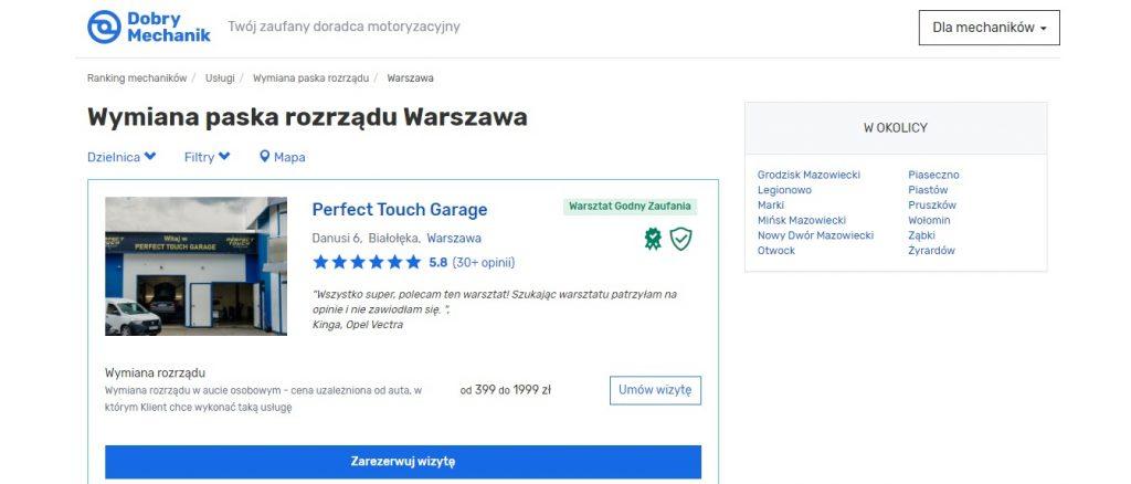 Wymiana paska rozrządu Warszawa