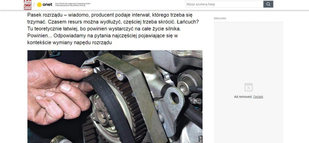 Wymiana paska rozrządu Warszawa, tanio
