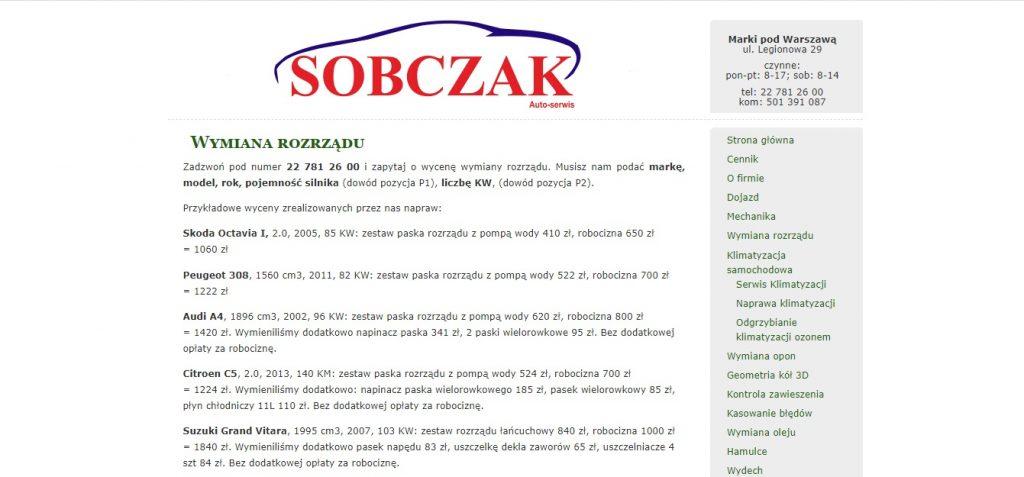 Wymiana rozrządu Sobczak Auto Serwis