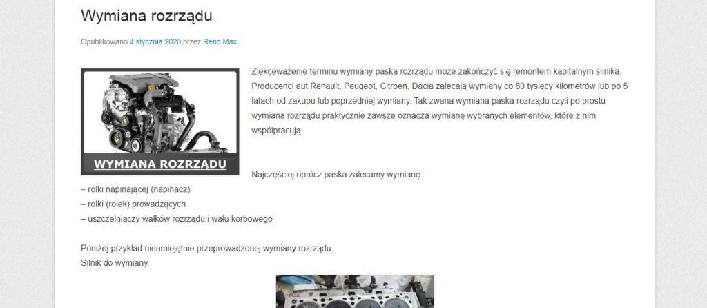 Wymiana rozrządu Warszawa RenoMax